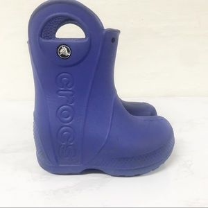 Crocs Toddler Handle It Rain Boots Blue Purple